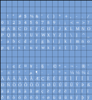 [ISO 8859-1 character set]
